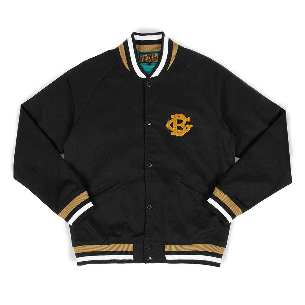 Baseball Black Cotton Twill Jacket