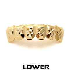 King Ice Gold Diamond Cut Grillz (set)