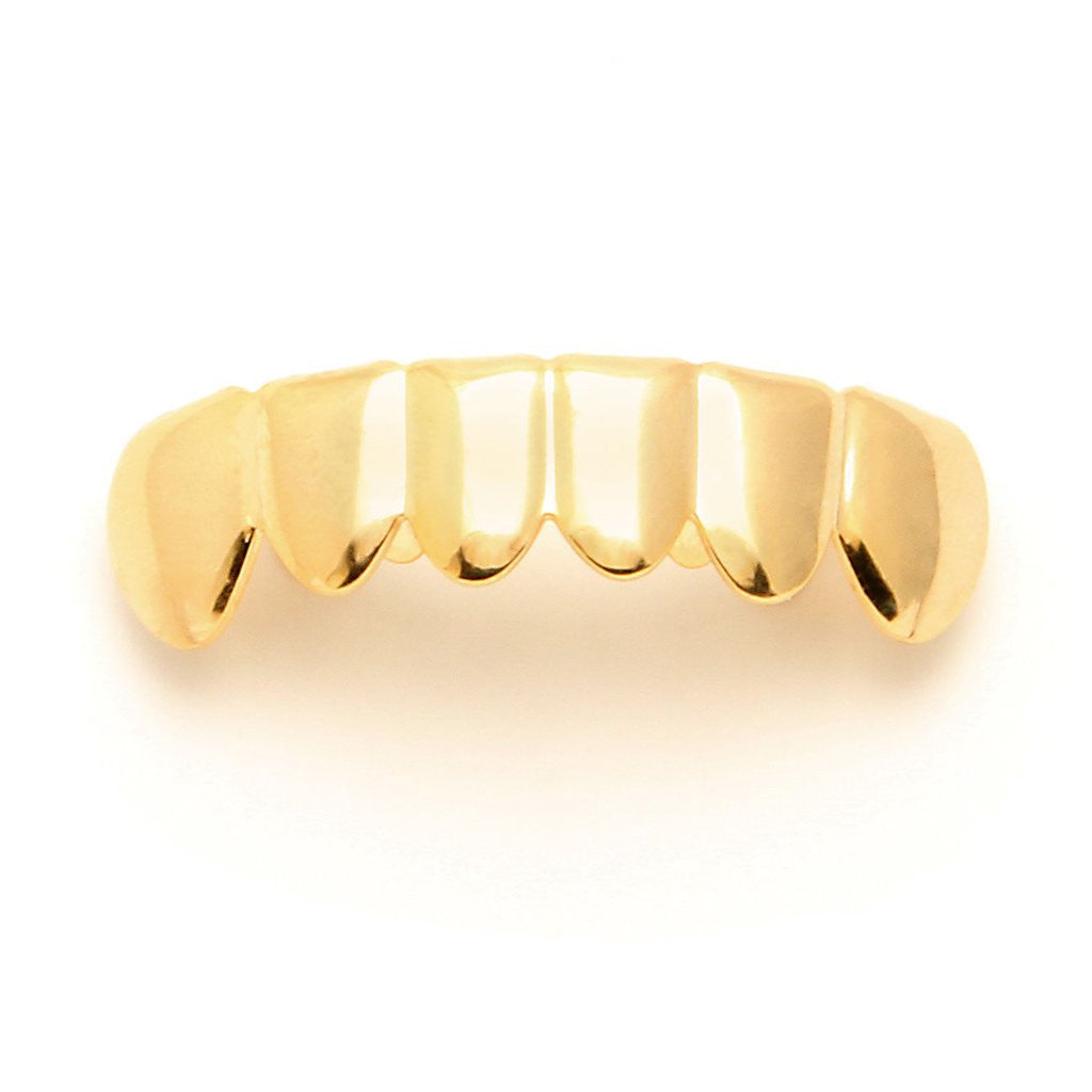 Gold Plain Bottom Grillz