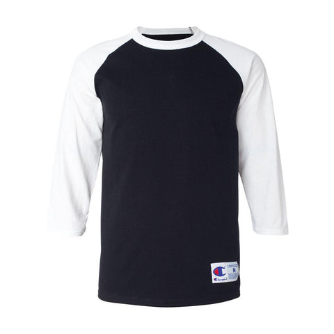 Champion - Raglan Baseball T-Shirt (Black/ White)