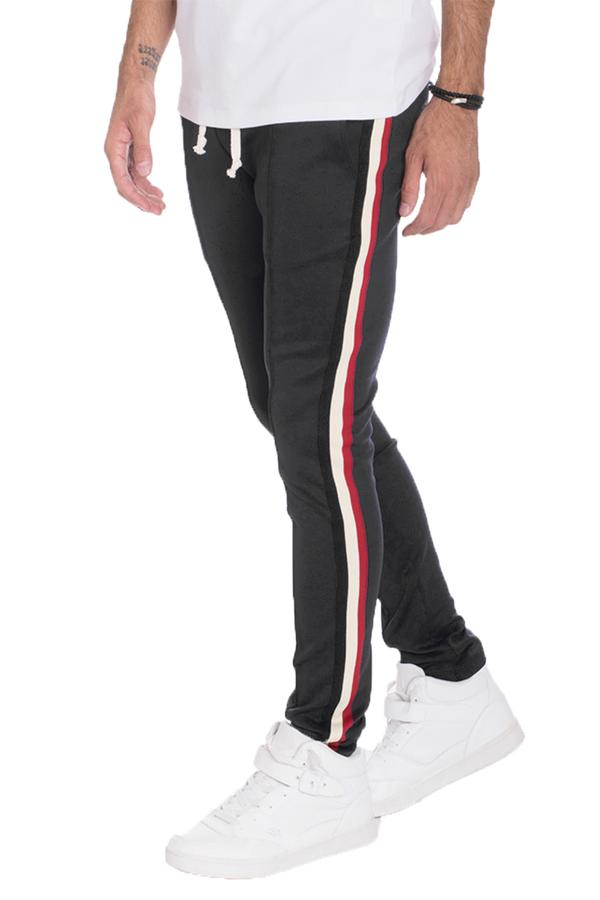 Taped Track Pants- Black