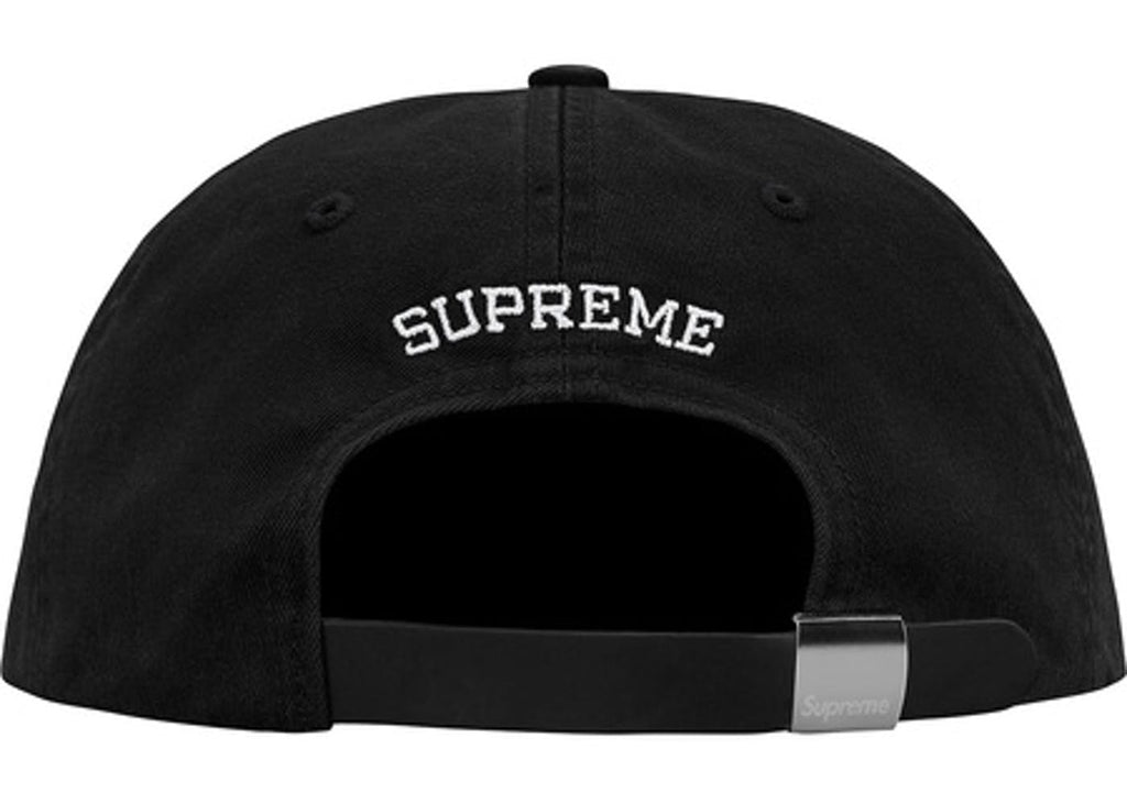 Supreme S Logo Felt 6-Panel- Black