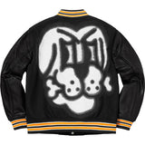 Supreme Bone Varsity Jacket- Black