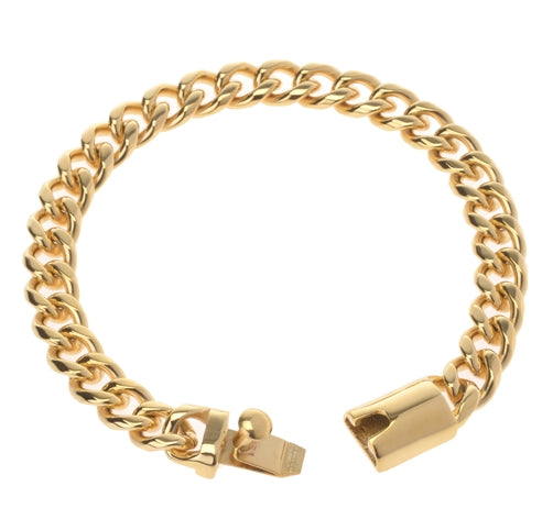 Stainless Steel Cuban Bracelet  With Luxury Clasp