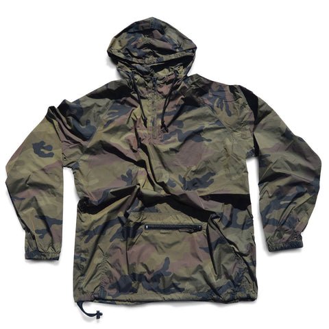 Camo Hooded Windbreaker