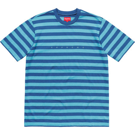 Supreme Bar Stripe Tee- Blue