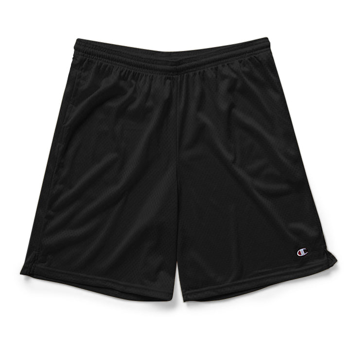 Black Champion Mesh Shorts with Pockets