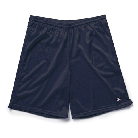 Navy Champion Mesh Shorts with Pockets