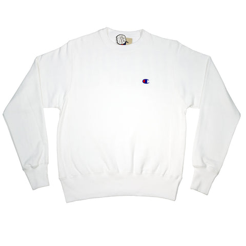 Champion Fleece Pullover- White