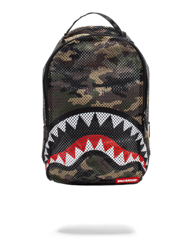 Camo Mesh Shark Backpack