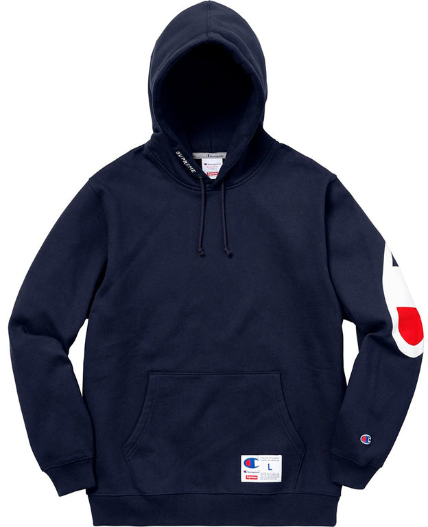 49f3a9d0038 Supreme Champion Hooded Sweatshirt (SS18)- Navy — Streetwear Official