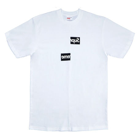 7590b337c16 Supreme Comme des Garcons SHIRT Split Box Logo Tee- White