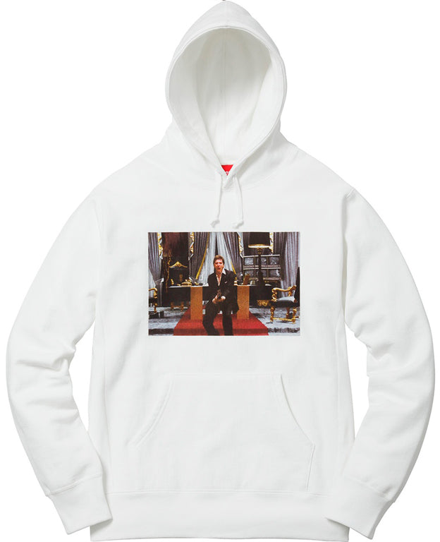 Supreme Scarface Friend Hooded  Sweatshirt- White