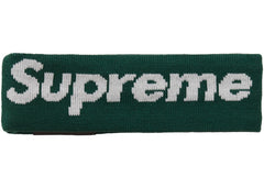 Supreme New Era Big Logo Headband (FW18)- Dark Green