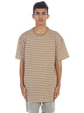Stripe Box Tee (Tan White)