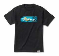 Citrine Box Logo Tee- Black