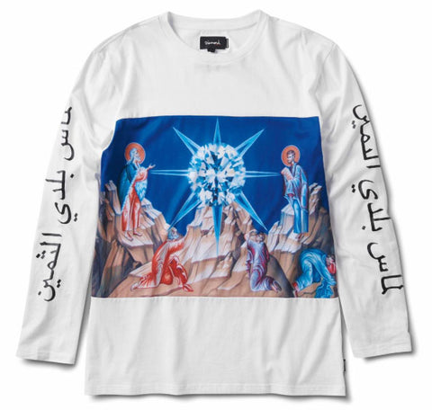 SAVIOR LONGSLEEVE KNIT TEE - WHITE