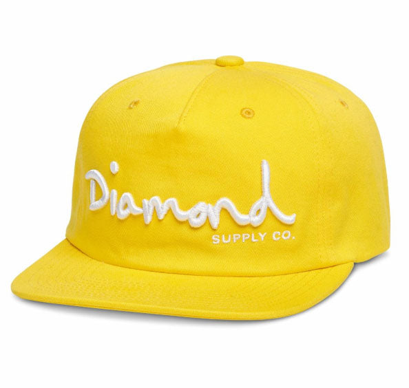 OG SCRIPT STRUCTURED SNAPBACK- YELLOW