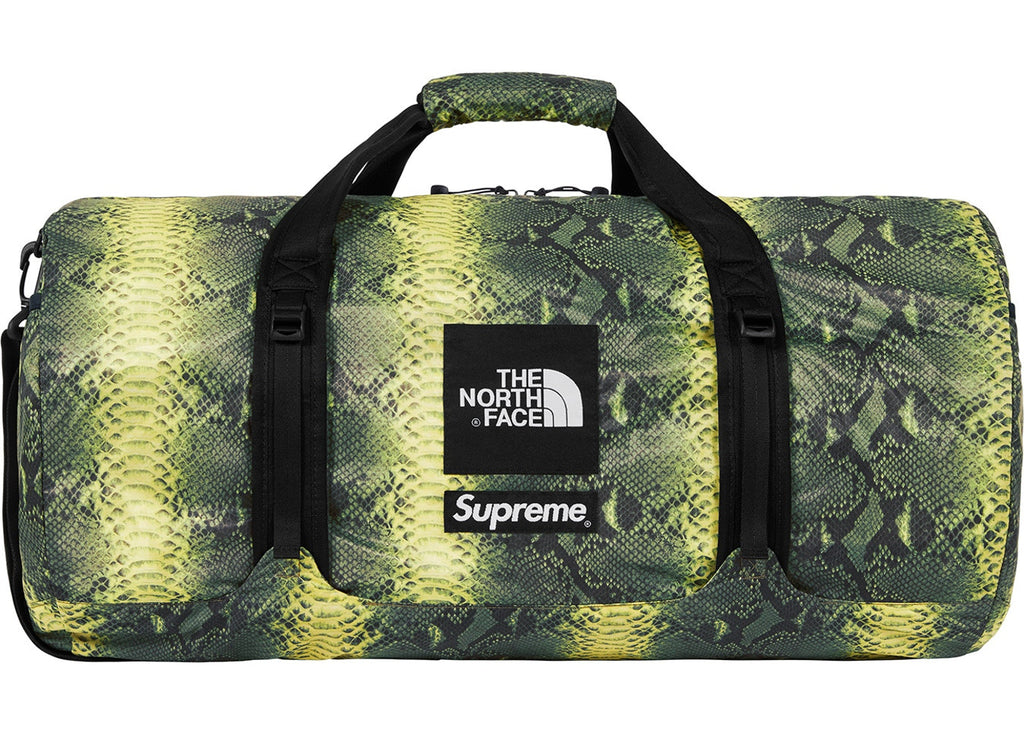 Supreme The North Face Snakeskin Flyweight Duffle Bag- Green