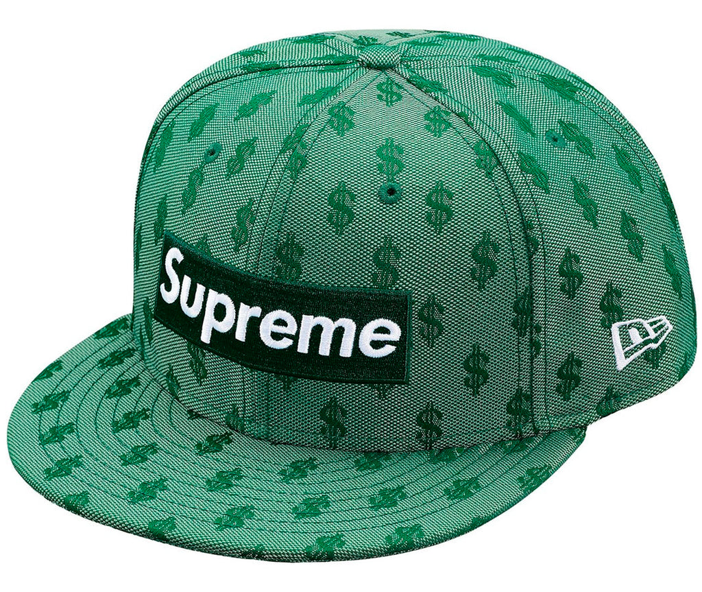 Supreme Monogram Box Logo New Era- Green