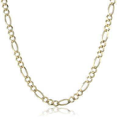 5mm Figaro Chain- Gold