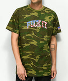 Fuck It Camo Flag S/S Tee- Woodland Camo