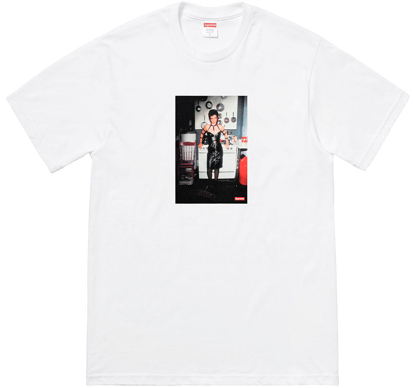 Supreme Nan Goldin Nan as a dominatrix Tee- White