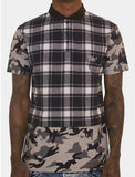 Plaid Camouflage Shirt (Navy)