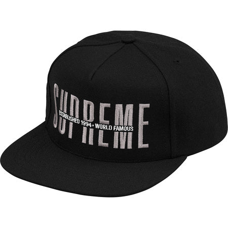 Supreme Global 5-Panel Hat- Black