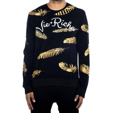 Gold Feather Crewneck