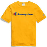 Champion Script Embroidered Tee- Gold