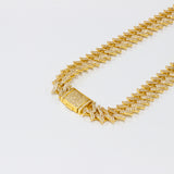 Iced Out Sharp Link Gold Chain