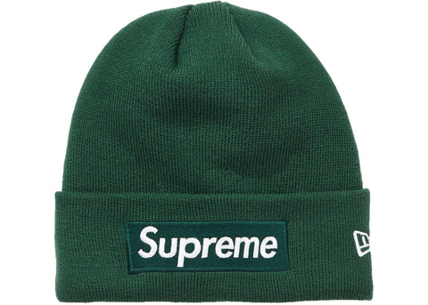 Supreme New Era Box Logo Beanie (FW18)- Dark Green