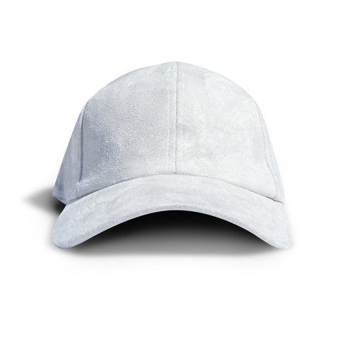 Grey Faux Suede Dad Cap