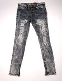 Kayden K Acid Washed Distressed Denim