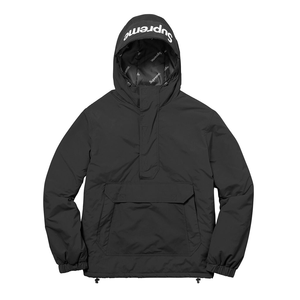 Supreme Hooded Logo half zip pullover