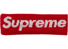 Supreme New Era Big Logo Headband (FW18) Red