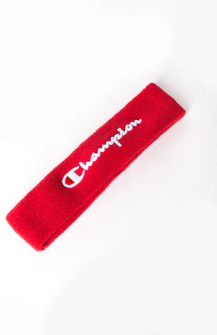 Champion Terry Logo Headband- Scarlet