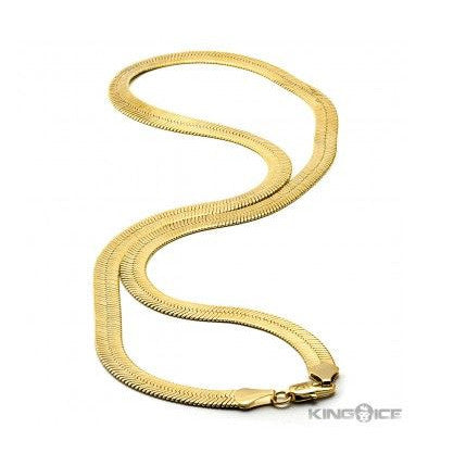 King Ice 14K Gold Herringbone Chain