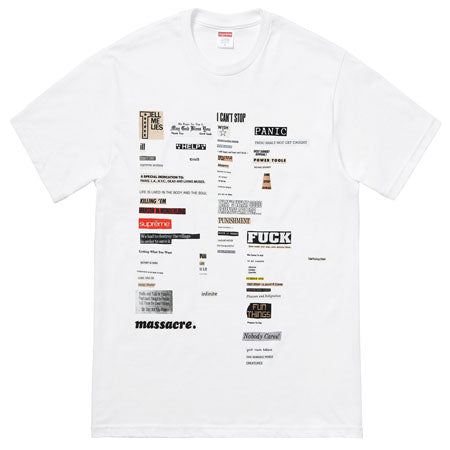 Supreme Cutouts Tee- White