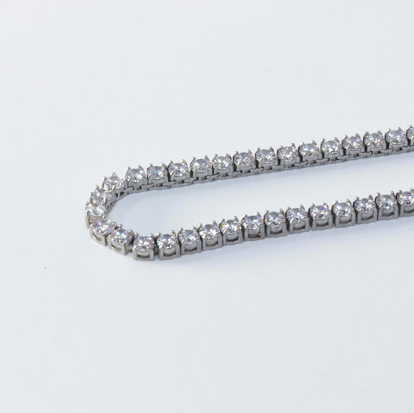 Iced White Gold Chain