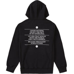 Supreme Know Thyself Hooded Sweatshirt- Black