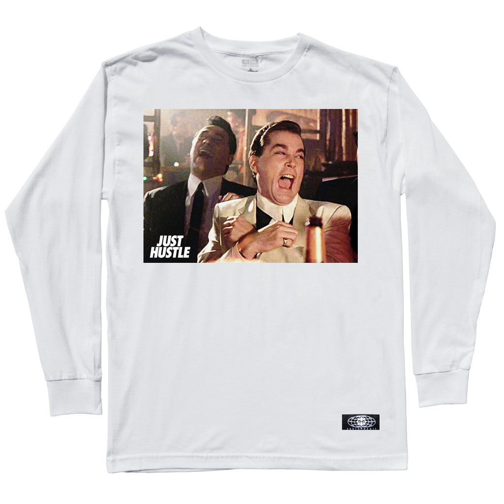 Just Hustle Fellas LS White