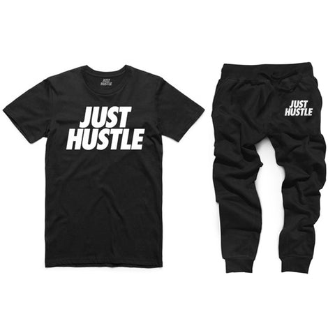 Just Hustle Joggers + T-Shirt Set