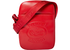 Supreme LACOSTE Shoulder Bag- Red