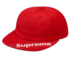 Supreme Visor Label 6-Panel- Red