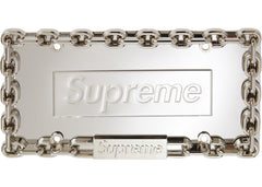 Supreme Chain License Plate Frame- Silver