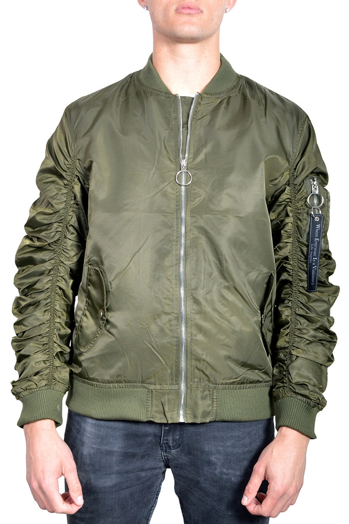 MA-1 Flight Lined Bomber Jacket- Olive