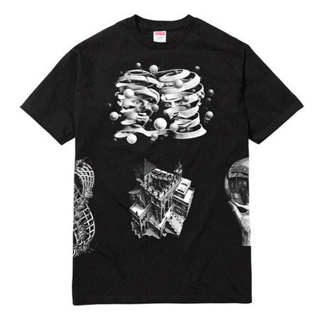 Supreme MC Escher Collage Tee Black