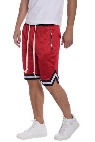 EDWIN Double Mesh Short Pants- RED